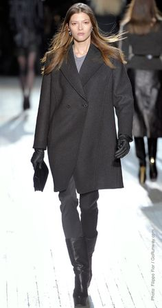 Fall Fashion Trend: Oversized coats generously cut and effortlessly masculine. Theysken's Theory Fall 2012