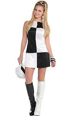 adult mod girl 60s costume halloween - Baseball Halloween Costume For Girls