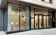 Revolving Doors standing 3.8 metres tall that EA Group installed in central London