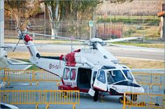 Picture of Rome, Italy, February 19, 2011: Big Blue Rome Sea Expo - Boat Show Rome 2011. In this picture a Coast Guard helicopter exposed fo...
