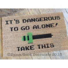 Legend of Zelda doormat novelty geek stuff fan by DamnGoodDoormats, $50.00