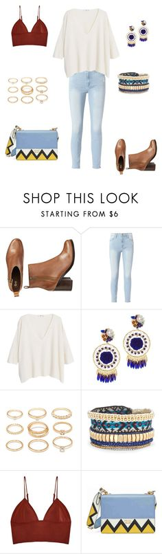 """""""Untitled 20"""" by paolamaitanl ❤ liked on Polyvore featuring Gap, Frame, MANGO, Mercedes Salazar, Forever 21, Stella & Dot, Fleur du Mal, Prada, Winter and ootd"""
