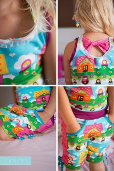 Pijama for Kids with a bow - sewing - diy - german