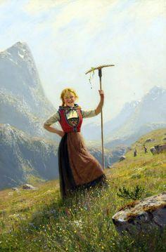 Paintings by Norwegian painter Hans Dahl Paintings