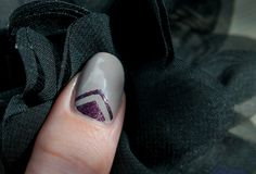 Essie Master Plan, OPI Lincoln Park After Dark suede and nail vinyls