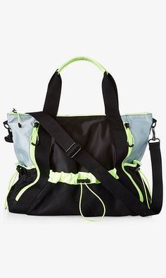 Black And Neon Yellow Yoga Mat Gym Bag from EXPRESS Neon Yellow 42e7c4307dbd1