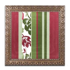 Color Bakery 'Woodlands Christmas IV' Ornate Framed Art