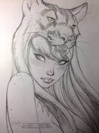 Resultado de imagen de dibujo a lapiz de chicas de scott campbell