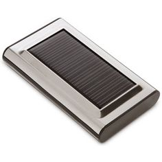 JuiceBar solar charger because I'm tired of my cellphone battery dying during a power outage or when I have to drive for hours.