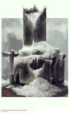 Ruined Building- At The Mountains of Madness by Mothmandraws on DeviantArt Lovecraft Cthulhu, Hp Lovecraft, Mountains Of Madness, Dream Song, Ruined City, Love Craft, Building Materials, Weird, Horror