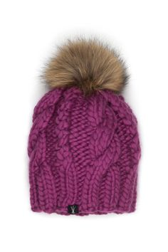 587afe8800b The Fenway - Cable Hat w  Fur Pom. Knitting Kits ...