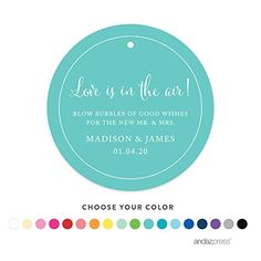 -- You can get more details here: Andaz Press Personalized Wedding Bubbles Favor Gift Tags, Circle, 24-Pack - Custom Made Any Name at Christmas Tag, Cards, Gift Boxes.