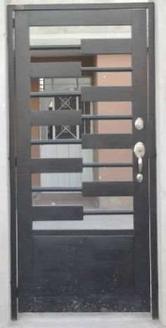 Puerta principal de forja contemporanea 8 for Puertas minimalistas