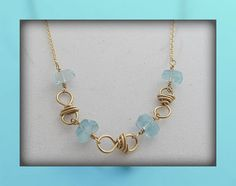 Sea Blue Necklace by RoseGilleyDesigns on Etsy, $50.00