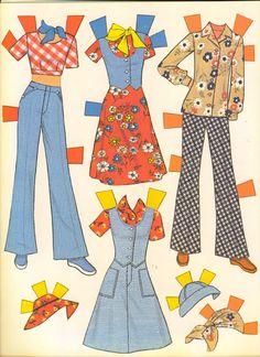 VintageVixen.com Vintage Clothing Blog: She's a Doll! 70s Paper Doll Fashions