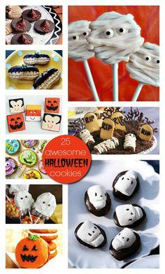 25 Best Halloween Cookies #Recipes #Halloween #Cookies