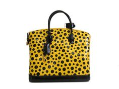 LOUIS #VUITTON Lockit MM Pumpkin Dot Yayoi Kusama Hand bag M91389 (UJ105420). #eLADY global accepts returns within 14 days, no matter what the reason! For more pre-owned luxury brand items, visit http://global.elady.com