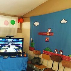 Cumpleaño Vicente!!! Level 10!! 👾🎮🎤 #cumpleaños #arcade #videogames #mariobros #pacmancake