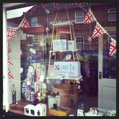 Loving the #fathersday window @Amber Johnson Yours Gift Shop great bunting @Whitney Clark Clark R