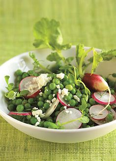 Pea Salad with Radishes and Feta Cheese