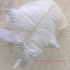 Ring Cushion with Large feather