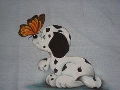 Pintura em tecido - Cãozinho brincalhão! | Flickr – Compartilhamento de fotos!