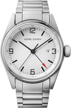 Georg Jensen Watch Delta Classic #basel-15 #bezel-fixed #case-depth-12mm #case-material-steel #case-width-42mm #date-yes #delivery-timescale-call-us #dial-colour-white #gender-mens #gmt-yes #luxury #movement-quartz-battery #new-product-yes #official-stockist-for-georg-jensen-watches #packaging-georg-jensen-watch-packaging #style-dress #subcat-delta #subcat-georg-jensen-gmt #supplier-model-no-3575596 #warranty-georg-jensen-official-2-year-guarantee #water-resistant-100m