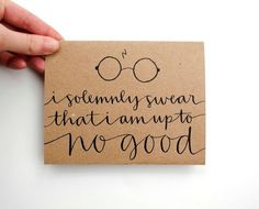 Invitation writing?? Reminds me a little of my own handwriting (besides the fact that I love the tie to Harry Potter)