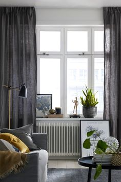 Linen curtains | Ellos Home