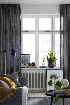 Linen curtains   Ellos Home                                                                                                                                                                                 Más