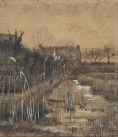 "Vincent van Gogh (1853-1890) ""Ditch"", March 1884"