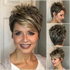 Happy New Hair! 10 wunderschöne Looks, um das neue Jahr einzuläuten!Happy New Hair! 10 beautiful looks to start the new year! Happy New Hair! 10 beautiful looks to ring in the New Year! on the teeth Hair color pregnancy# Hair gray color hair bonitos loo Short Spiky Hairstyles, Short Pixie Haircuts, Short Hairstyles For Women, Pixie Haircut For Thick Hair, Messy Hairstyles, Wavy Pixie, Long Pixie Cuts, Teenage Hairstyles, Short Wavy