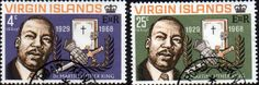 British Virgin Islands 1968 Martin Luther King Set Fine Mint SG 226/7 Scott 192/3 Other Viggin island Stamps HERE