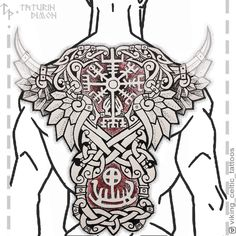 Slavic and Scandinavian tattoos Tattoo Son, Rune Tattoo, Norse Tattoo, Back Tattoo, Viking Tattoo Sleeve, Viking Tattoos, Sleeve Tattoos, Viking Dragon Tattoo, Body Art Tattoos