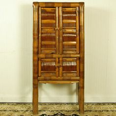 antique chinese bamboo furniture antique chinese asian 4 door 64 tall 30 wide chinese bamboo furniture