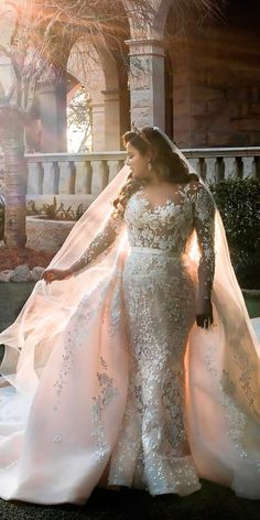 Plus-Size Wedding Dresses: A Jaw-Dropping Guide ❤ See more: http://www.weddingforward.com/plus-size-wedding-dresses/ #weddings #PlusSizeWeddingThings