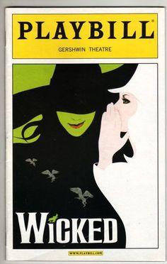 "Shoshana Bean ""Wicked"" Playbill Jennifer Laura Thompson 2005 George Hearn | eBay"