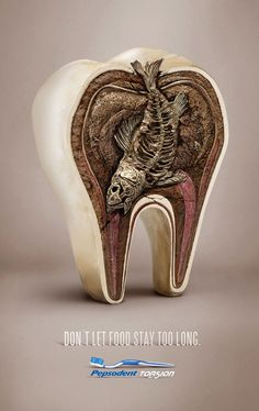 awesome Pepsodent: Don't let food stay too long...