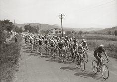 10. etappe Tour De France, 1951. Mellom Clermint-Ferrani og Brive, 14. juli. Foto: POLYFOTO/ Arkiv Sturlason