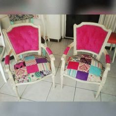 Sillones antiguos patchwork