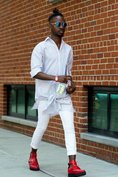 Street Style at New York Fashion Week: Men's - Slide Show - NYTimes.com #FashionWeek #FashionCities #FashionCapitals