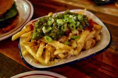 Cactus fries from Dirty Bones, London. Delicious hot dog and US comfort food restaurant with a fun, vibrant atmosphere.