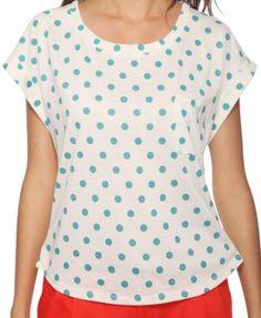 Polka Dot Pocket Top  $14.80