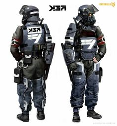 Cyberpunk Rpg, Cyberpunk Character, Futuristic Armour, Futuristic Art, Armor Concept, Concept Art, Killzone Shadow Fall, Tactical Armor, Military Gear