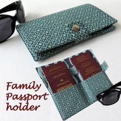 Family Passport wallet.Holds 6 passports sewing pattern