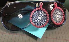 Delightful Pink and Blue Earrings by JoelleLove on Etsy