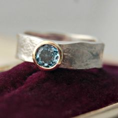 Alison Moore - Aquamarine Storybook Ring - Rings - All Jewellery | Handmade gold, silver and gemstone Scottish jewellery
