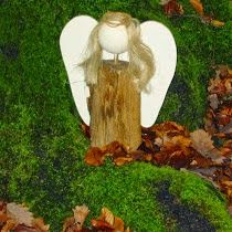 gkkreativ: Engel aus Feuerholz