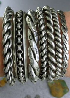 The sterling silver bracelets have actually been preferred among females. These bracelets are offered in various shapes, sizes and styles. Silver Bangles, Sterling Silver Bracelets, Silver Earrings, Mens Silver Bracelets, Silver Jewellery, Gold Necklace, Bracelets For Men, Fashion Bracelets, Jewelry Bracelets