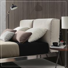 """LIE ON DIZZY Now available, """"Dizzy"""" has rapidly conquered it's place in the top sellers due to its' sleek lines. Visit our website or one of our showrooms for more details. Furniture Store, Couch, Bed, Furniture, Interior Design Services, Online Furniture Stores, Bedroom, Interior Design, Home Decor"""